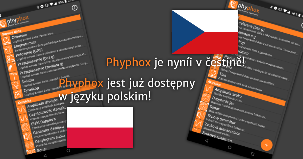 Version 1.0.11: Czech and Polish translations for phyphox