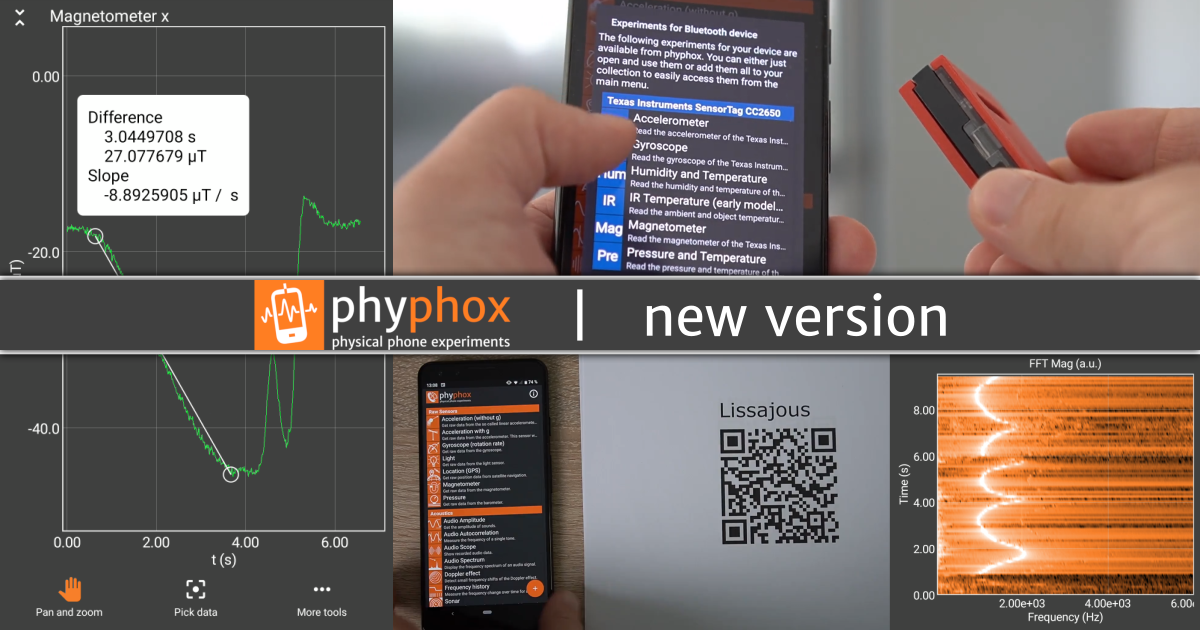 The big update has arrived: phyphox 1.1.0