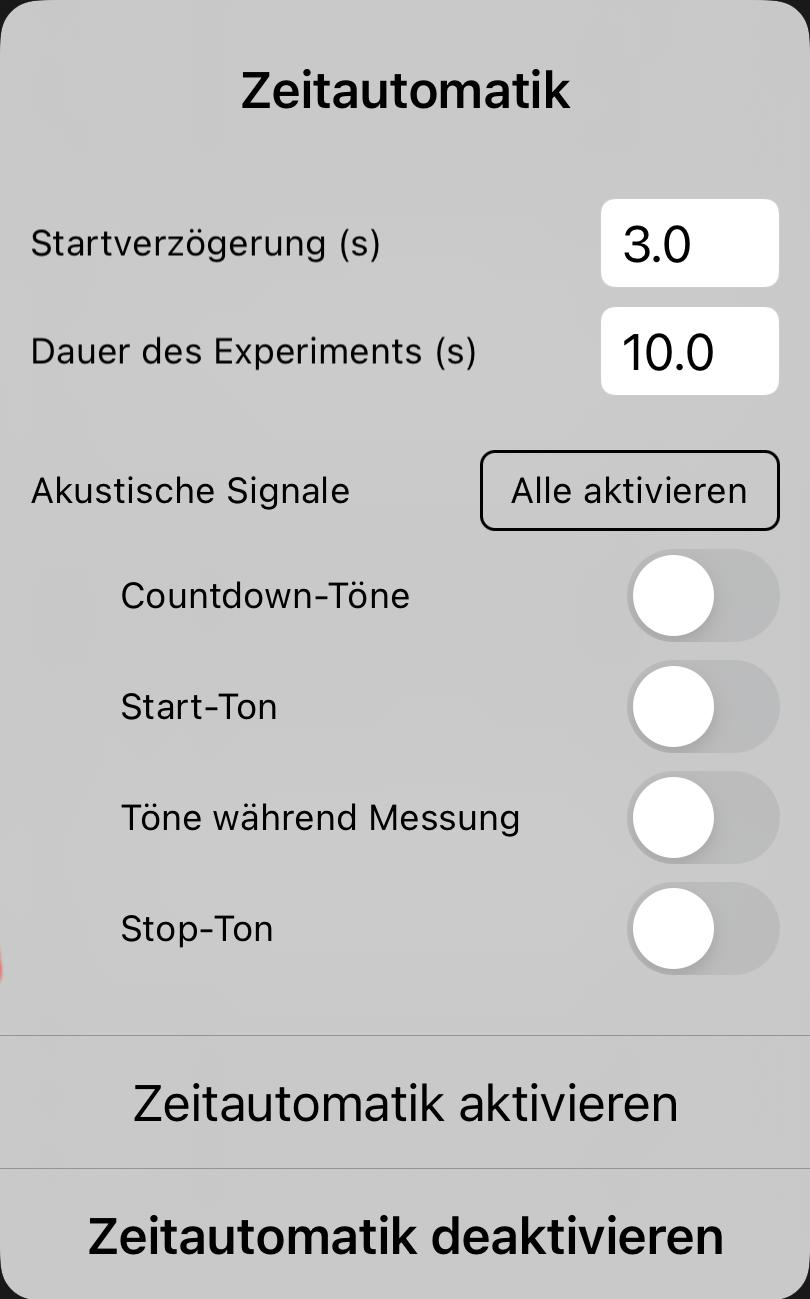 Version 1.1.9: Akustische Signale in der Zeitautomatik
